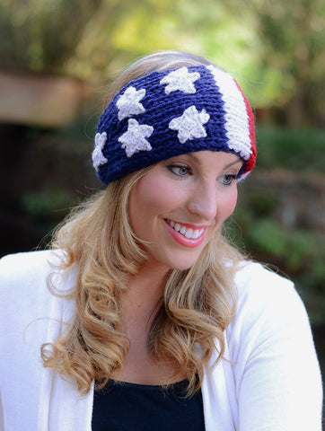 Usa Womens Crochet Head Wrap
