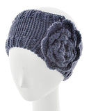 Womens Crochet Head Wrap With Embellished Flower