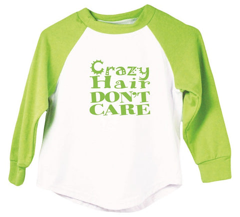 Crazy Hair Don't Care - Graphic Raglan T-Shirt
