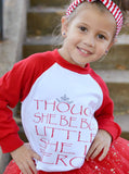 And Though She Be But Little Raglan T-Shirt