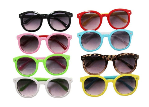 Wide Brimmed Girls Sunglasses - Multiple Colors