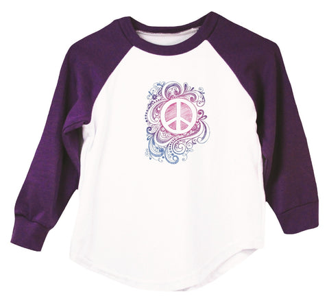 Peace Sign Raglan T-Shirt