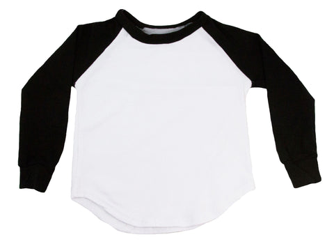 Long Sleeve Raglan T-Shirt - Black