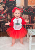 I Just Like To Smile... Raglan T-Shirt, Tutu, Headband, Red