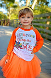 Everyone Is Thankful... Raglan T-Shirt & Orange Tutu