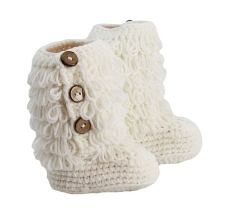 Crochet Boots with Buttons