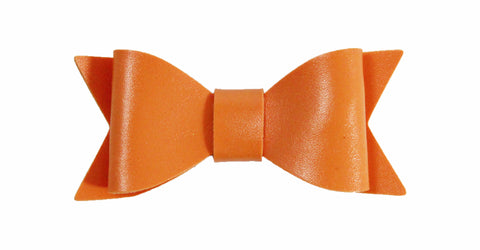 "2.5"" Leather Bow Embellishment/Hair Clip"