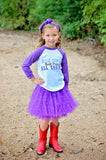 Half Cowgirl Half Princess... Raglan T-Shirt, Tutu, Headband Set