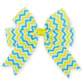 "Set of 2 - 4x5"" Chevron Ribbon Grosgrain Hair Bow- Set of 2"