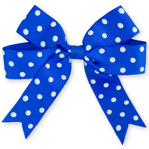 "4x5"" Polka Dot Ribbon Grosgrain Hair Bow Set of 2"