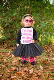 I'm Not Allowed To Date... Raglan T-Shirt, Tutu, Headband, Black