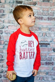 Hey Batter Batter Raglan T-Shirt