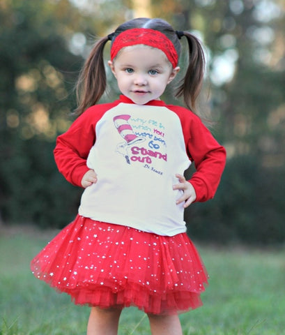 Why Fit In...(Dr. Seuss) Raglan T-Shirt, Tutu, Headband