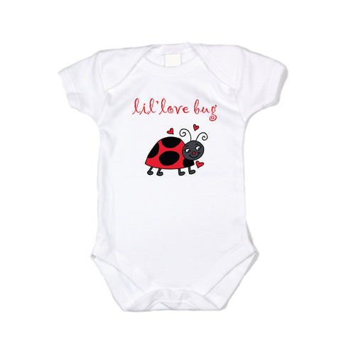 Lil Love Bug - Graphic Bodysuit With Lady Bug