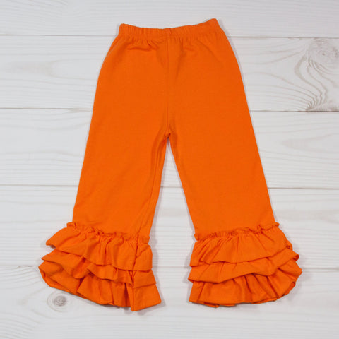 Ruffle Leg Boutique Pants - 12 Color Options