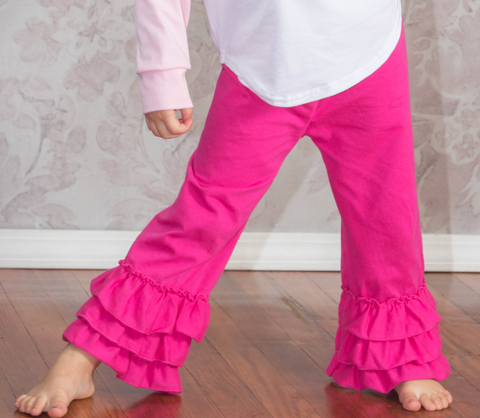Ruffle Leg Boutique Pants - 14 Color Options