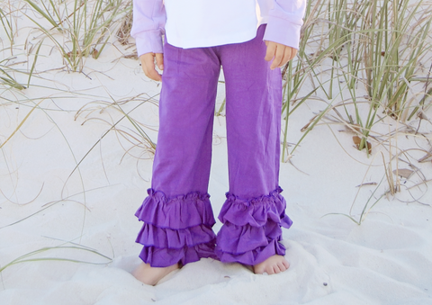 Ruffle Bottom Icing Boutique Pants - 14 Color Options
