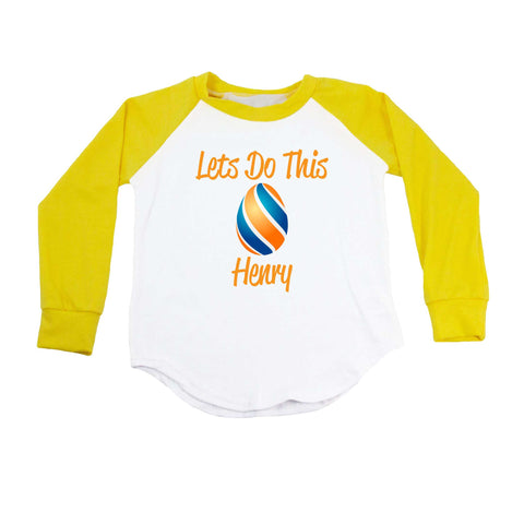 Let's Do This Personalized Easter Egg T-Shirt - Boys