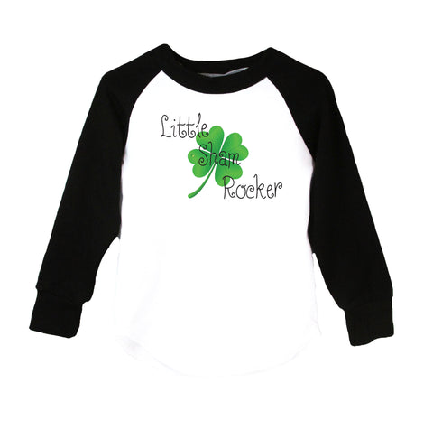 Little Sham Rocker Raglan T-Shirt, Black & White