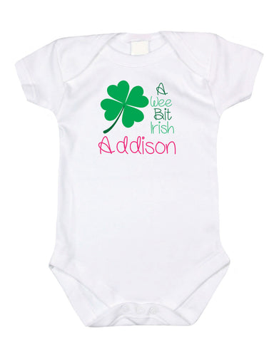 A Wee Bit Irish (Your Child's Name) - Graphic Bodysuit