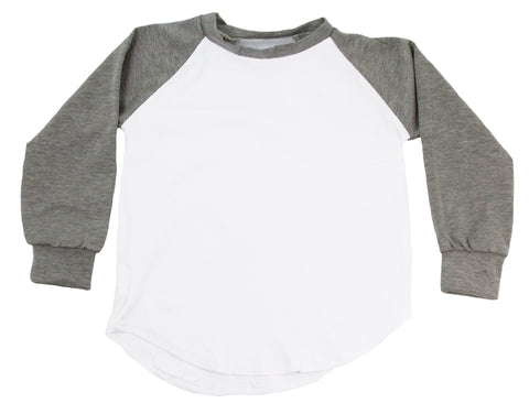 Long Sleeve Raglan T-Shirt - Gray