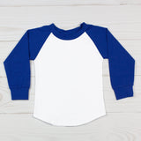 Long Sleeve Raglan T-Shirt - Blue