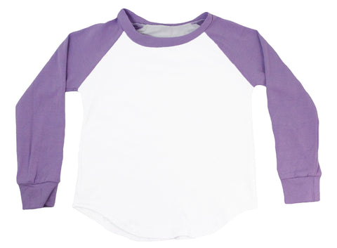 Long Sleeve Raglan T-Shirt - Lavender