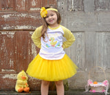 Egg-Specially Cute Raglan T-Shirt, Tutu, Headband Set