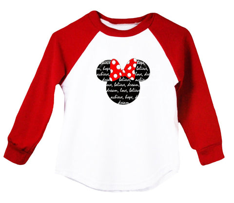 Minnie Mouse Raglan T-Shirt