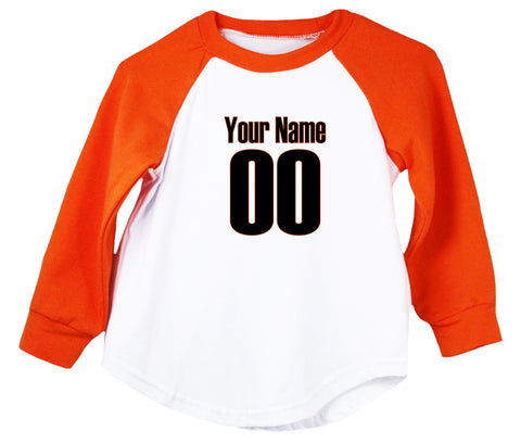 Sports Team Jersey (Custom Name/Number) Raglan T-Shirt
