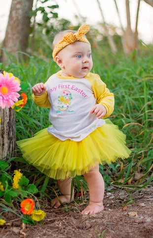 It's My First Easter Raglan T-Shirt, Tutu, Headband