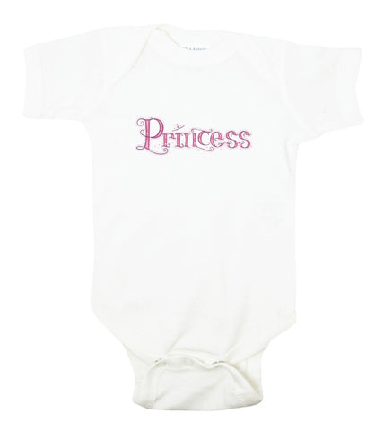 Princess Graphic Bodysuit With Pink Font