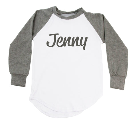 Raglan T-Shirt with Personalized Name