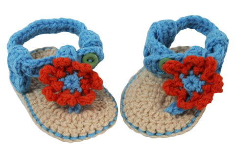 Crochet Sandals with Daisies