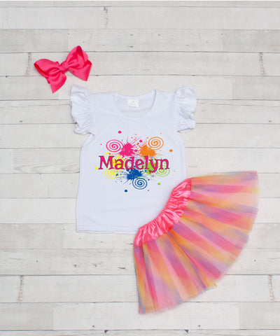 Graffiti - Personalized 3pc T-Shirt and Tutu Set