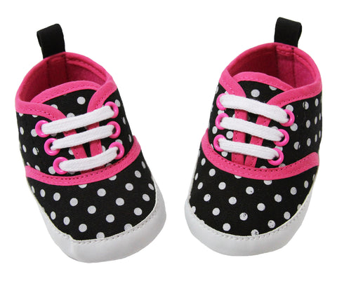 Black & White Polka Dot Sneakers