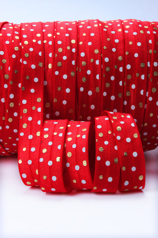 BOLT- Polka Dot Satin Elastic  - 5/8""