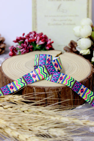 BOLT -  Aztec Pattern Satin Elastic - 5/8""