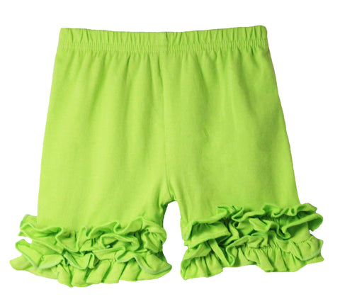 Ruffle Bottom Icing Boutique Shorts - 12 Color Options