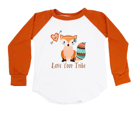 Love Your Tribe With Fox Raglan T-Shirt