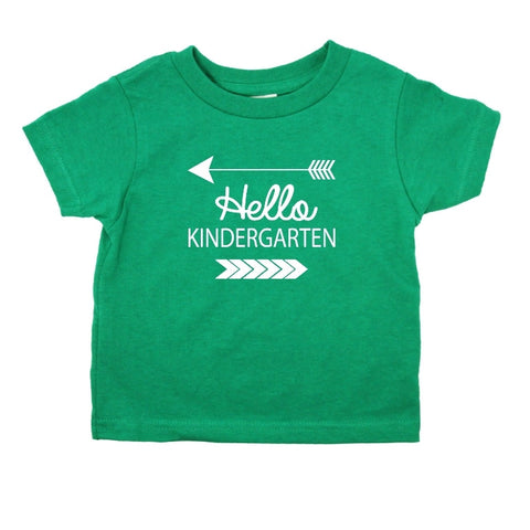 Hello Kindergarten Sleeve T-Shirt (7 Color Options)