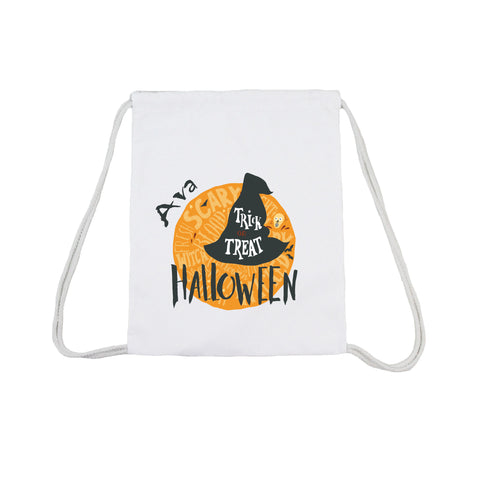 Trick Or Treat With Witch's Hat - Trick Or Treat Canvas Bag