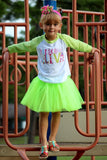 Preschool Diva T-Shirt, Tutu, Headband Set (Green)