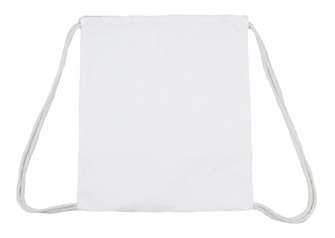 White Multi-Purpose Drawstring Canvas Bag