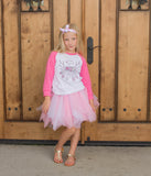Free Spirit With Antlers T-Shirt, Tutu, Headband Set (Hot Pink)