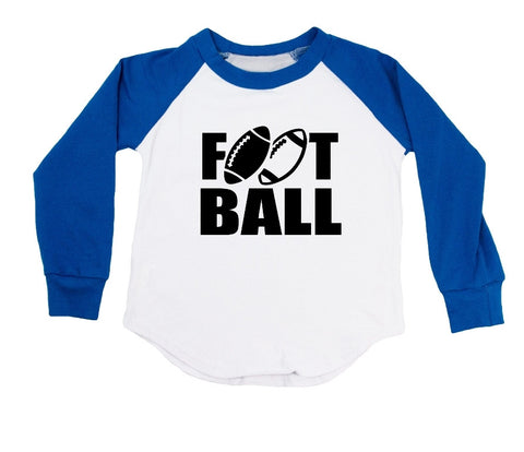 Double Football Raglan T-Shirt