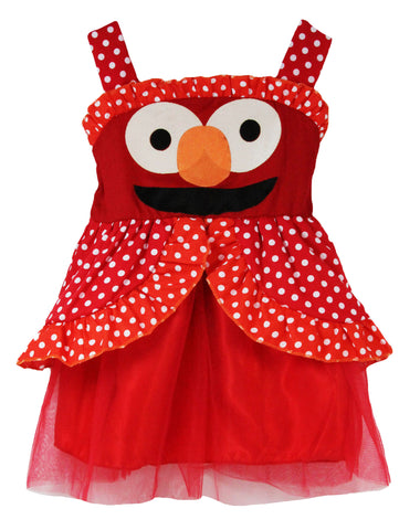 Elmo Polka Dots & Tulle Sleeveless Dress