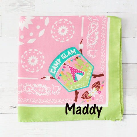 Camp Glam Personalized Pet Bandana - 2 Colors