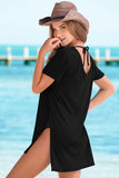 Jersey Short Sleeve Swimsuit Cover Up
