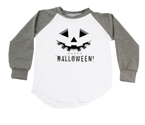 Jack-O-Lantern Happy Halloween Raglan T-Shirt